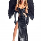 Hot Black Darkness Sexy Adult Gothic Goddess cosplay Costume W548657