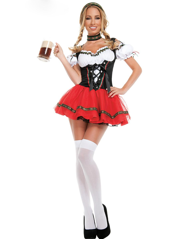 Woman Cosplay Oktoberfest Darling Costume Frisky Beer Girl Costume W8639