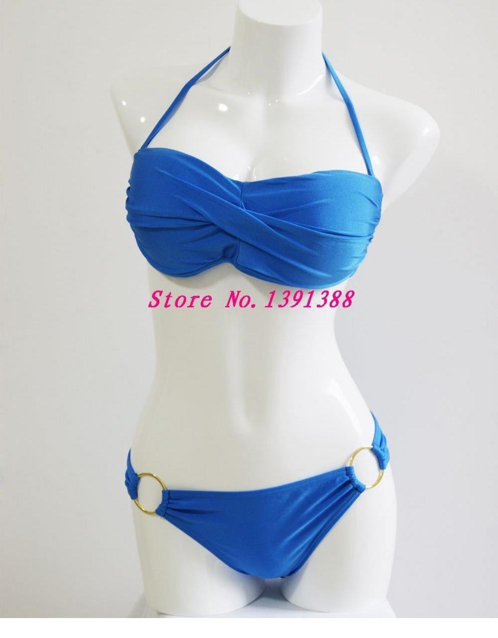 Sexy Padded L Size Summer Bathing Suit Bikini Swimwear W399432