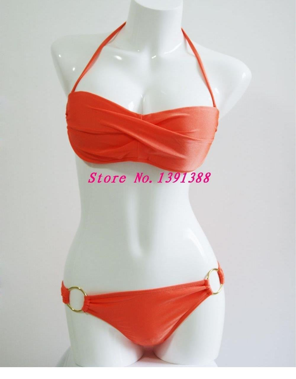 Women Fashion Summer Halter Bathing Suit Bikini Swimwear W399432