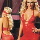 Valentine Day Lace V-neck Women red Sexy Midnight Babydoll Lingerie W204197B