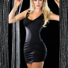 Black Sleeveless V-neck Sexy Racer Back Criss Cross Mini Dress W14015