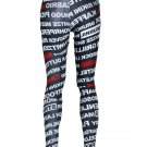Women Mid Waist Sexy Famous Brand Pants Black Milk Fashion Letter Print Leggings K228