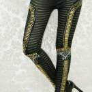 High Quality Women Mid Waist Sequined Lady Beauty Patchwork Cute Leggings wl7970