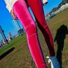 Teen Mid Waist Capris Sexy Girl Solid Red Color Cute Leggings wl131