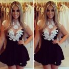Fashion Lace Chest dress white and Sheer tulle Sexy Prom Dress W850350