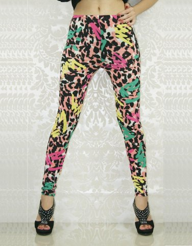 Fashion Colorful Sexy Mid Waist Stylish Bright Color Woman Leggings WL8038