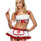 3 Pieces Cosplay Halloween Costume Fashion Female Fancy Dress Sexy Nurse Costumes W2928