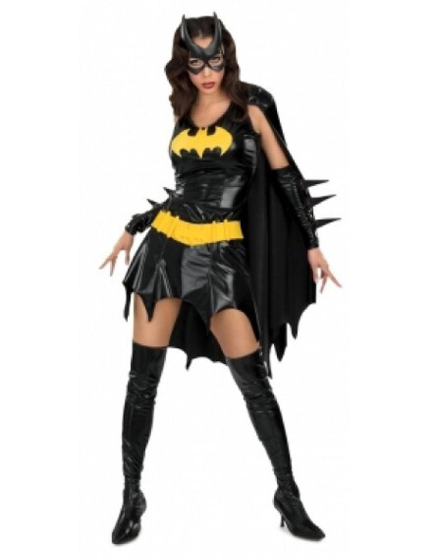 Super Hero Uniform Fetish Black DC Comics Batgirl Fancy Dress Adult Women's Costume