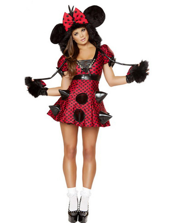 Sexy Fur Mouse Fancy Dress Carnival Cospaly Animal Uniform Adult Women Halloween Cartoon Costume