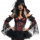 Sexy Dark Vampire Fancy Dress Carnival Costume All Saints' Day Devil Costume W158816