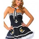 Dark Blue Sexy Off-shoulder Mystique All Saints' Day Halloween Sailor Costume for Woman W342990