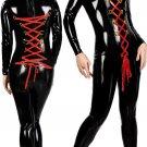 Jumpsuit Wet Look Hot Zantai Black Women Zipper Black Vinyl Leather Catsuit W377824