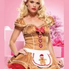 Biggest 30% Discount Fairy Tale Fancy Dress Gold Sexy Short Christmas Costumes for women W159087