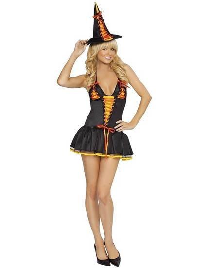 Black Friday Candy Witch Halloween Costume Set Petticoat Dress Item W445011