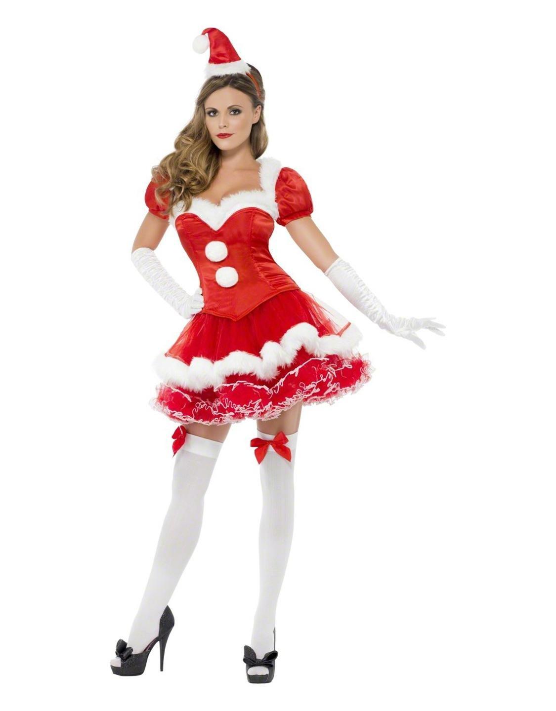 Miss Santa Corset Costume Fever Collection Tutu Fancy Dress X-mas Outfit W204032