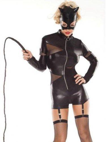 Cosplay Outfit Halloween Cat Fancy Dress Animal Coquette Women's Feline Domineer Costume W168614