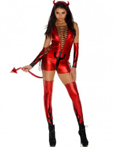 Hot Sale Women Dark Fantasy Sexy Red Devil Costume by Forplay Fashion Cosplay Costume W84439B