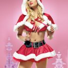 30% Off Good Quality Miss Santa Cosplay Irresistible 3PC Christmas Costume With Shawl W328521