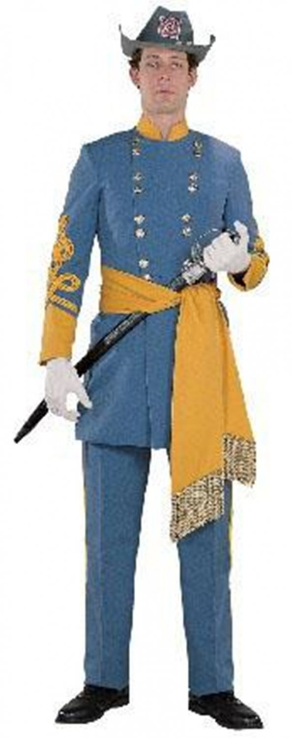Halloween Man Cosplay Fancy Dress Medieval General Robert E.Lee Costume with Hat W159068