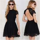 Hot Sale Popular Sexy Woman Little Black Lace Dress W850446