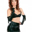 Black Steam Punk Wet Look Sexy Fetish Wear W850751