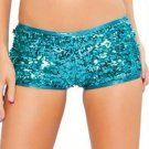 Hot Sale Blue Sequin Woman Hot Club Cheering Leader Shorts W1757
