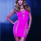 Sexy Slim Night Club Wear Fashion Hollow Out Purple Sleeveless Party Dress