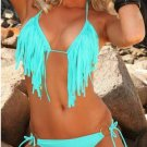 S Size Hot Light Blue Straps Sexy Swimwear With Rings Accents W239411A