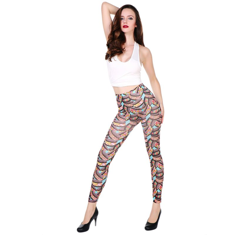 Women Fashion Slim Leggings  High Waist  One Size    WL48206A