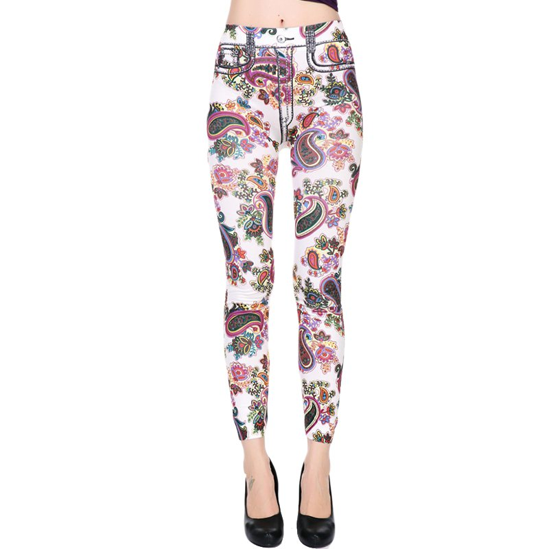 Floral Designs  Women Fashion Slim Leggings One Size  WL48206C
