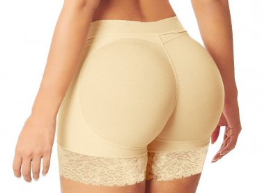 Floral Lace Trim S-XXL Size Apricot Color Hot Sale Butt Lifter For Women W35063A