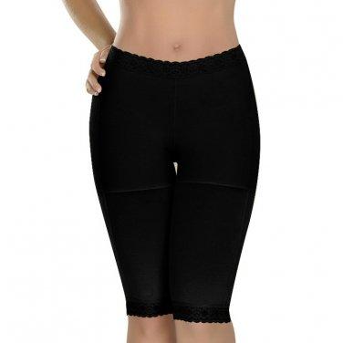 Cropped Pants S-XXL Size Black Color Floral Lace Trim Hot Sale Tight Lingerie W35067A