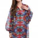 Hot Fashion Long Sleeves S-XL Size Drape Silhouette Beach Dress For Women W351019
