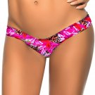 2pcs/lot Red Leaf Leopard Pattern Print S-XL Size Fashion New Women Swimming Trunks W3537J
