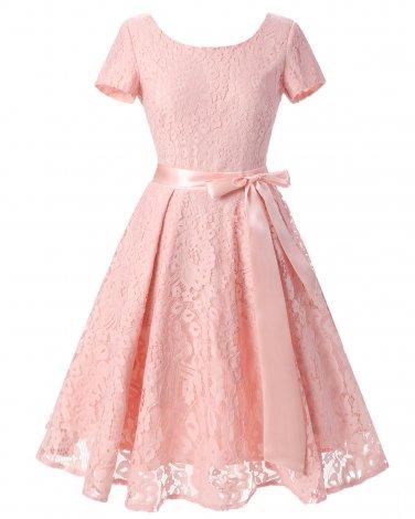 Women Pink Retro Skirt With A Girdle S-XXL Size W3517874F