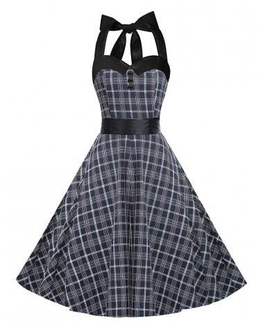 Women checked Retro Skirt S-XXL Size W3517897C