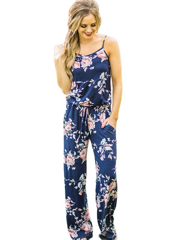 Summer Regular Floral Jumpsuits for Women WX10016
