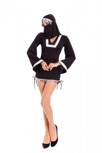 Middle Eastern Arab Girl Burka Halloween Costume Fancy Dress W4110725
