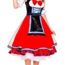New Red Oktoberfest Beer Girl Fancy Dress W418114