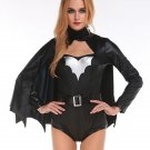Black Super Batman Uniform Halloween Cosplay Outfits Batgirl Cosplay Costume