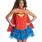 Red And Blue Supergirl Wonder Woman Fancy Dress Costume W2084316