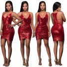 4 Colors Sexy Women Cocktail Dress Sequin Evening Bodycon Mini Party Dress S-2XL