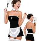 Classic Cosplay Costume Off-shoulder Lace Trim French Maid Costume
