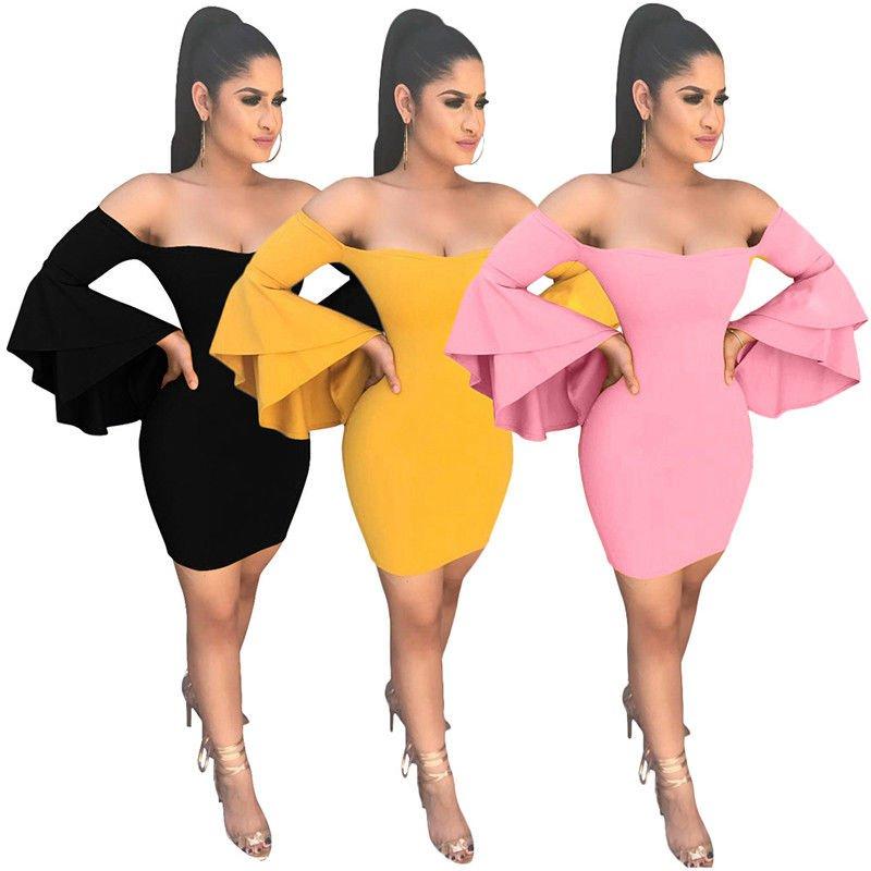 Sexy Women Cocktail Dress Butterfly Sleeve Summer Evening Midi Party Dress S-XL