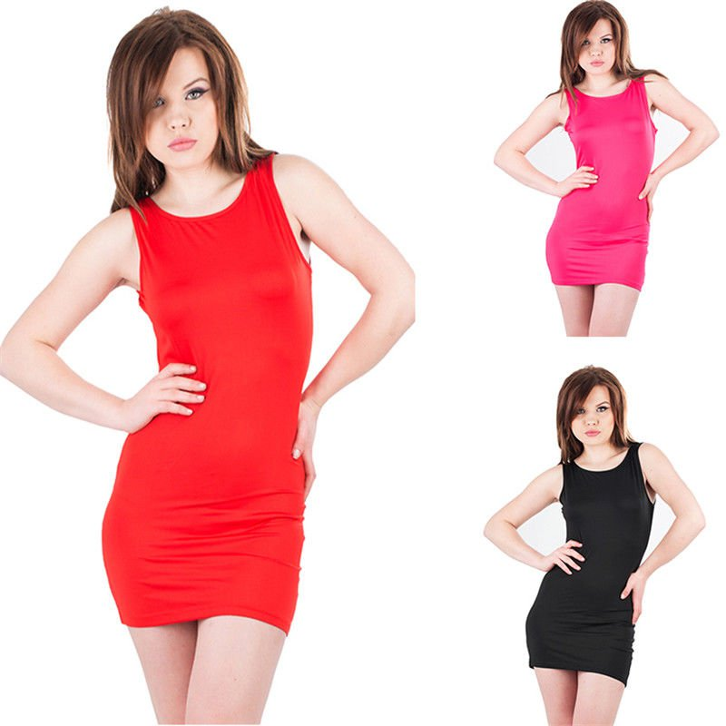 3 Colors Womens Summer Dress Ladies Casual Girls Sleeveless Hollow out Dresses