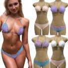 Women Bikini Sets Mermaid Seashell Bras Wave Swimsuit US Swimwear