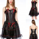 S-6XL Vintage Corset Dress Victorian Gothic Woman Steampunk Black Evening Corset