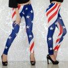 American Flag Printing Legging High Waist Casual Fashion USA Flag Pants Leggings