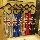 Women Sequin Glitter Bling Bling Party Dress Australian AU Flag Sexy Clubwear Cocktail Dresses